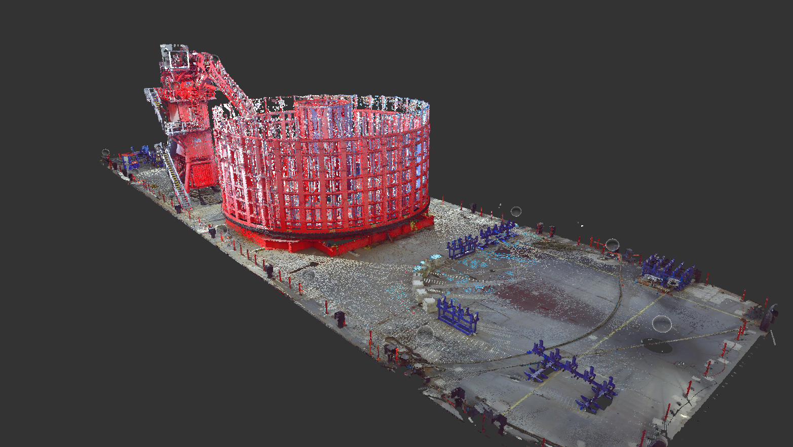 3D scan on-hire pontoon